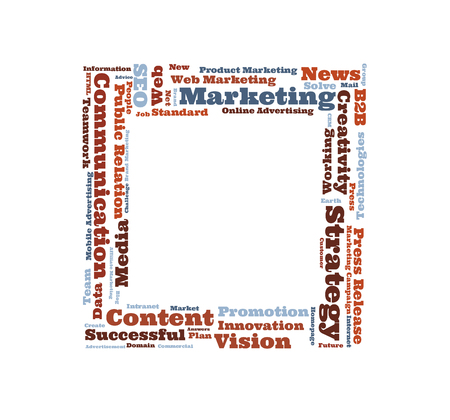 metadata: Marketing Strategy word cloud shaped as a square Stock Photo