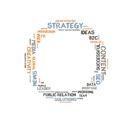 metadata: Strategy word cloud shaped as a circle