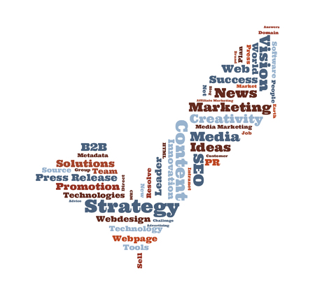 wordcloud: Marketing Strategy wordcloud Stock Photo