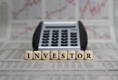 投資家 写真素材