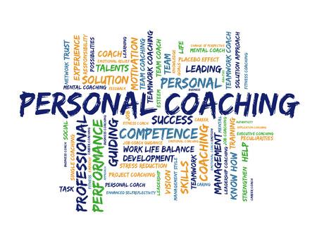 Personal coaching word cloud Stockfoto
