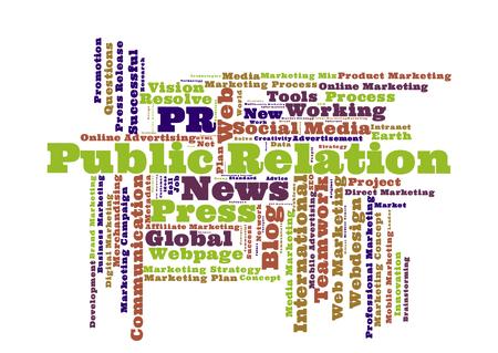 relation: Public Relation word cloud
