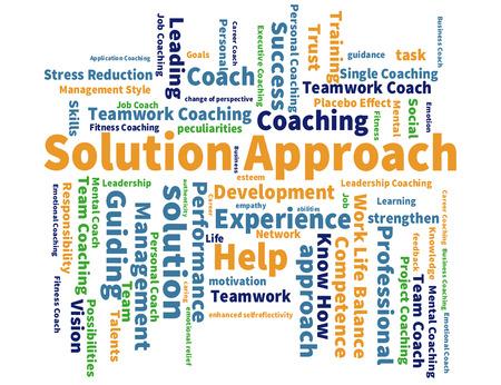 an approach: Solution Approach word cloud Stock Photo