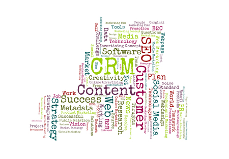 metadata: CRM word cloud body shaped