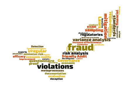 variance: Fraud word cloud