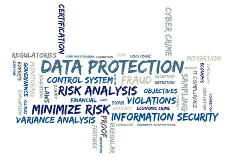 escalation: Data protection wordcloud Stock Photo