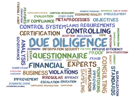 word: Due Diligence word cloud Stock Photo