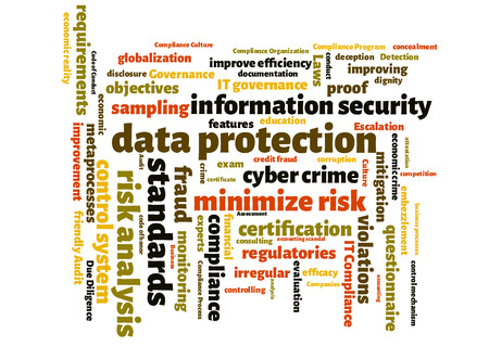 data protection wordcloud Stock Photo