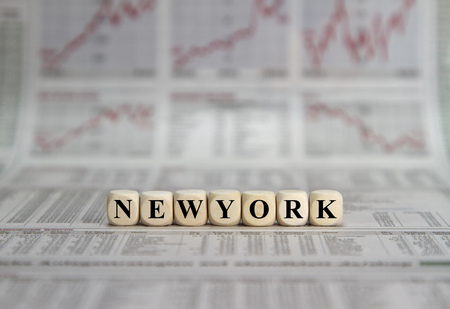 Financial place New York Stock Photo