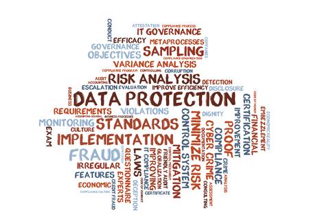 data protection wordcloud Stock Photo