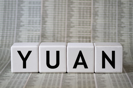 yuan: Chinese currency yuan Stock Photo