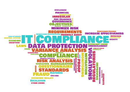 mitigation: IT compliance word cloud shaped as a star