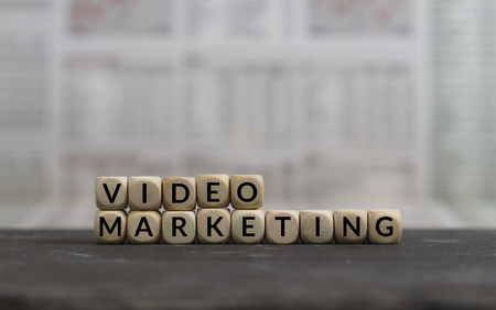 Video Marketing built with wooden letters