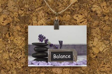 hot stones: body balance with hot stones and lavender Stock Photo