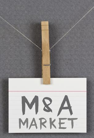 mergers: M&A Market Stock Photo