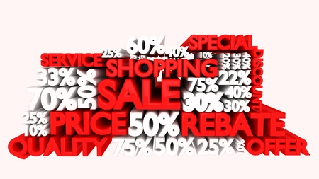75 80: 3D Sale word and percentage discount signs