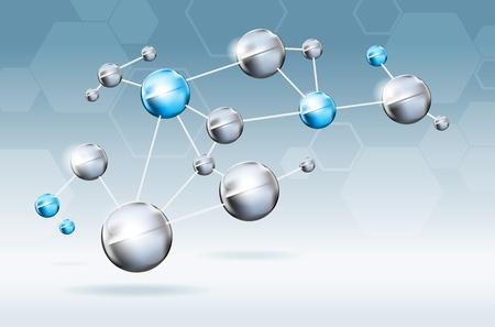 Abstract moleculen achtergrond