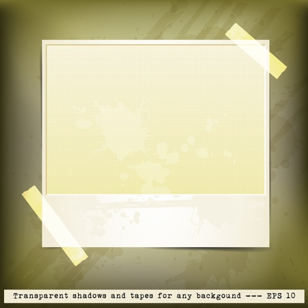 Grunge frame for text or photo on vintage background Stock Vector - 12292026