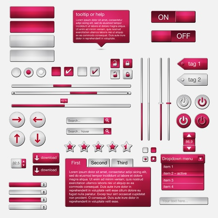 Set of web elements - vector file - easily customizable