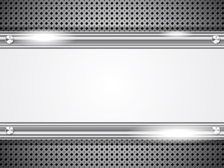 Metal background with frame for your text Stock Vector - 12292054