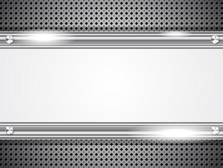 steel construction: Sfondo in metallo con cornice per il testo Vettoriali