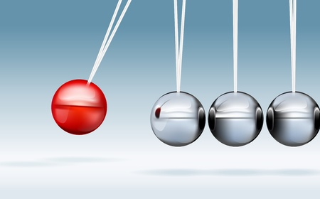 Realistic vector illustration of newton cradle