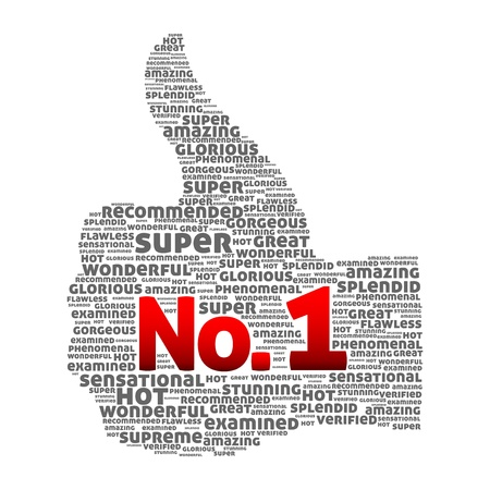 Thumbs up Number one Stock Vector - 12292010