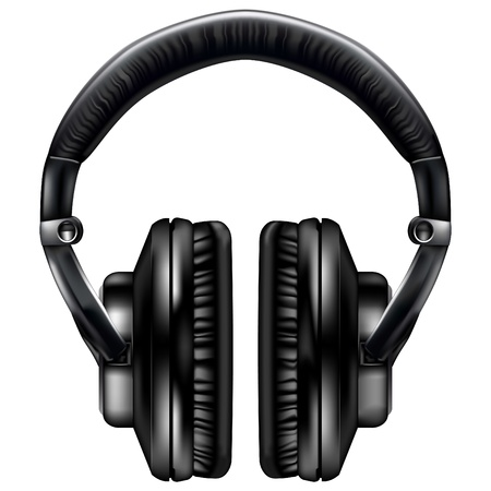 audio electronics: Realistic headphones - vector file