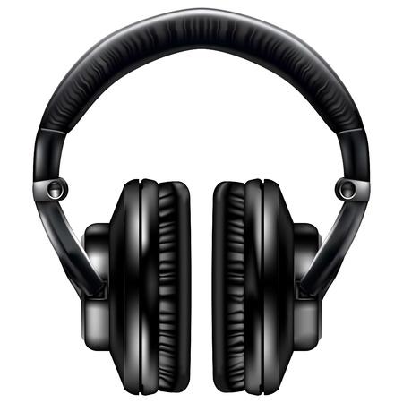 audio equipment: Realistic headphones - vector file