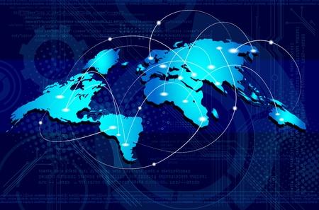 overdracht: Concept van wereldwijde zakelijke  verbindingen