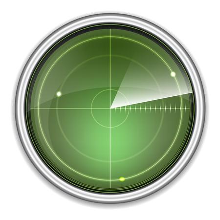 sonar: �cran radar Banque d'images
