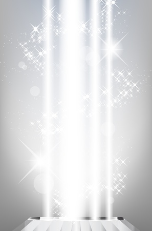 Abstract shiny background with light rays and stars Ilustração