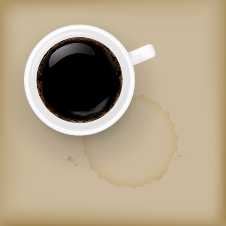 fresh brewed: Illustration of cup of coffee