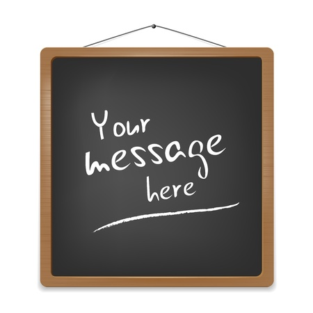 Blackboard for your message Illustration