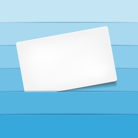 Empty paper card for your text file Vector