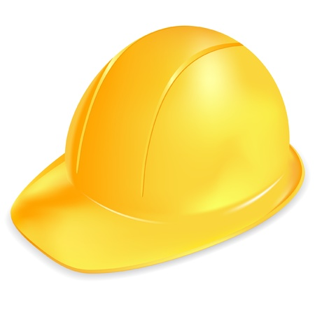 construction helmet: Under construction symbol - yellow helmet Illustration