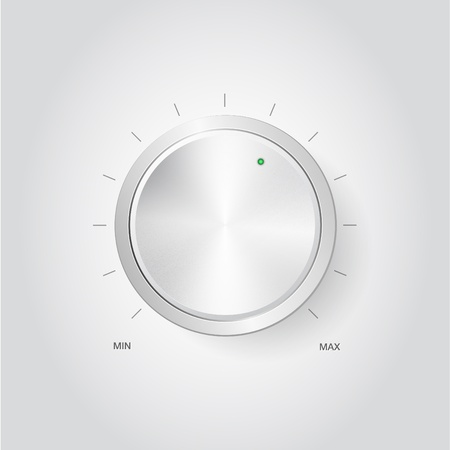 Realistic volume knob photo