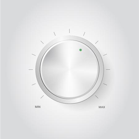 home audio: Realistic volume knob Stock Photo