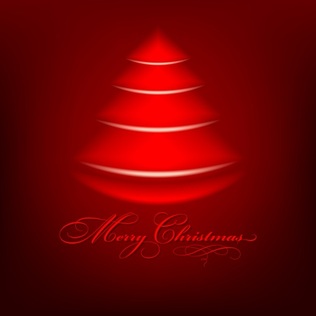Abstract red christmas tree - Merry Christmas background Stock Photo - 12707378