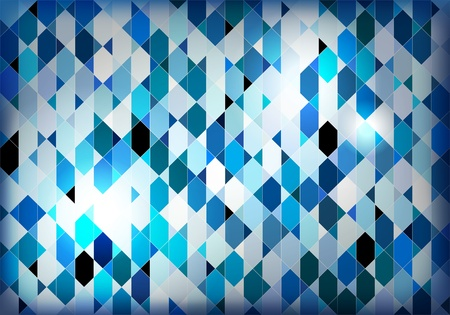 inlay: Blue mosaic background illustration Illustration