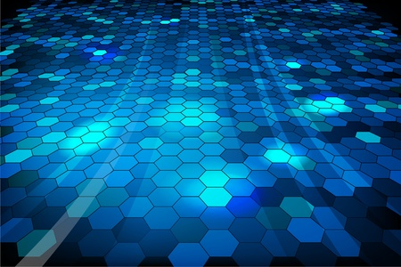Blue shiny mosaic background