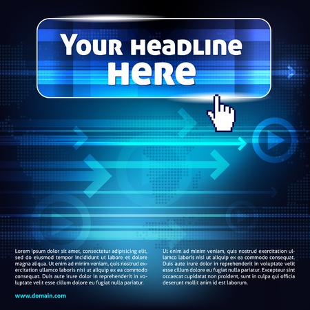 hightech: Abstract computer background with place for headline and text Illustration