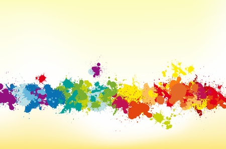 paint drip: Colorful splash background with place for text