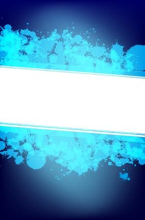 splashy: Blue splash background with place for text