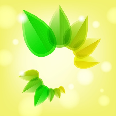 Abstract spring background with leaves and place for text Stock Vector - 12488752