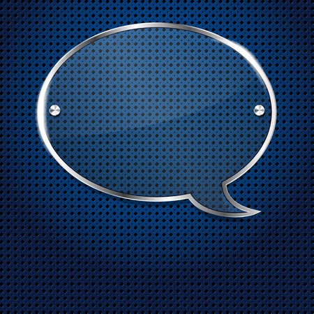 Blue background with glass bubble frame for your text Vector