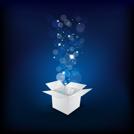 blue box: Magic gift box