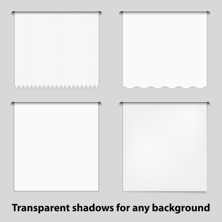 cranny: Set of empty paper card for your text