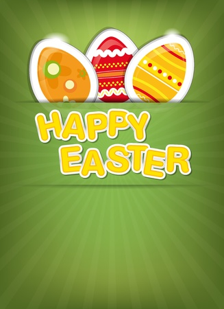 Happy Easter background - place for your text Vector