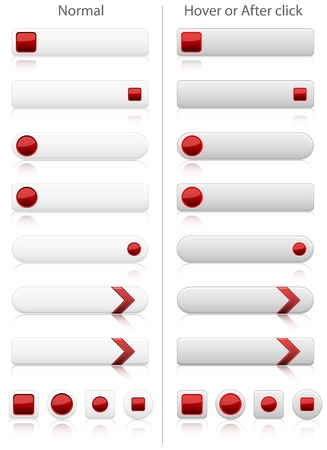 Set of modern web buttons in two positions Stock Vector - 12707393